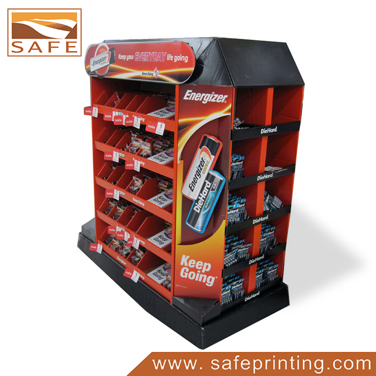 Advertising Cartoon Battery Corrugated Pallet Display for sales Promotion