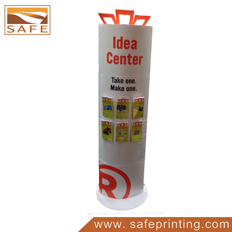 Cardboard totem displays safe printing for Totem stand