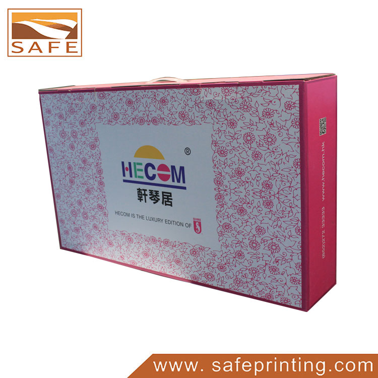 Custom Printed Pillow Cardboard Boxes with Handle