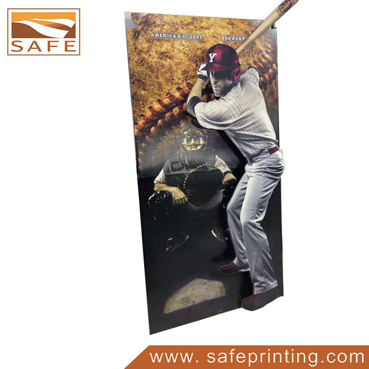 Full Color Printing Corrugated Cardboard Cutout POP Standee