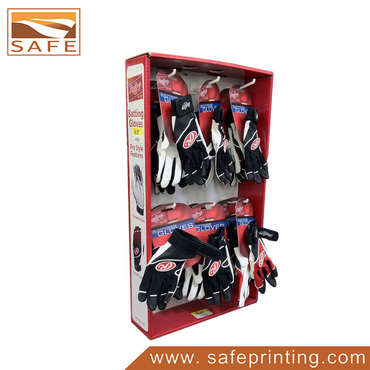 Glove Corrugated Paper Hanging Display Rack Hooks