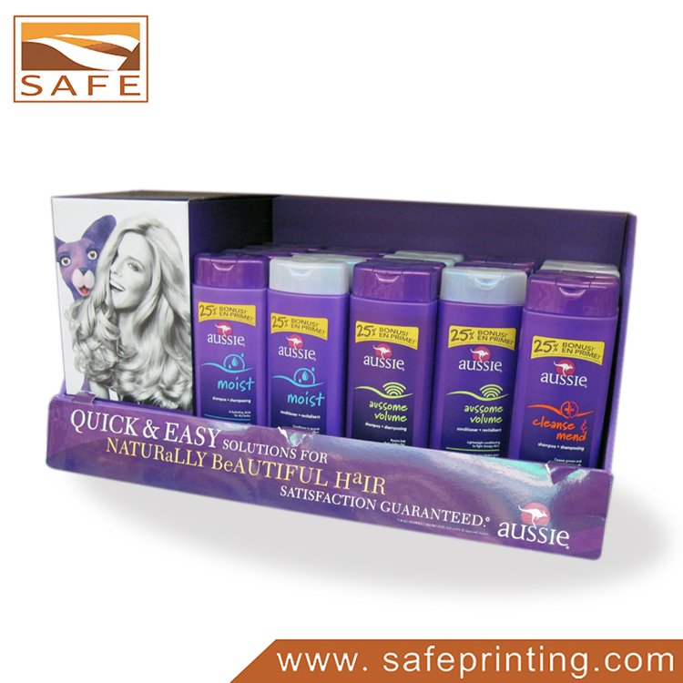 Hair Care Product Paper Counter Display Rack