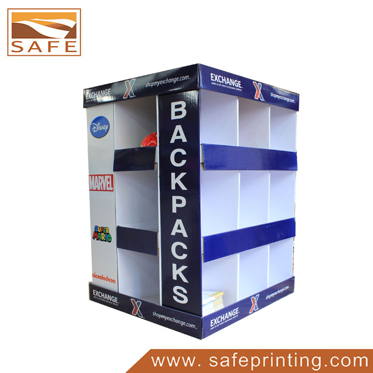 POP Corrugated Cardboard Floor Shipper Pallet Display Stand