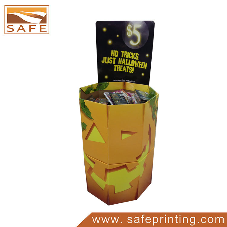 Paper Holiday Decoration Product Dump Bin Box