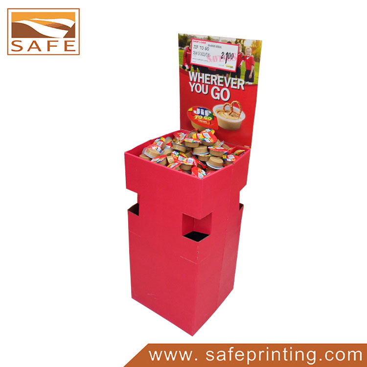 Promotion Square Advertising Paperboard Dump Bin Display
