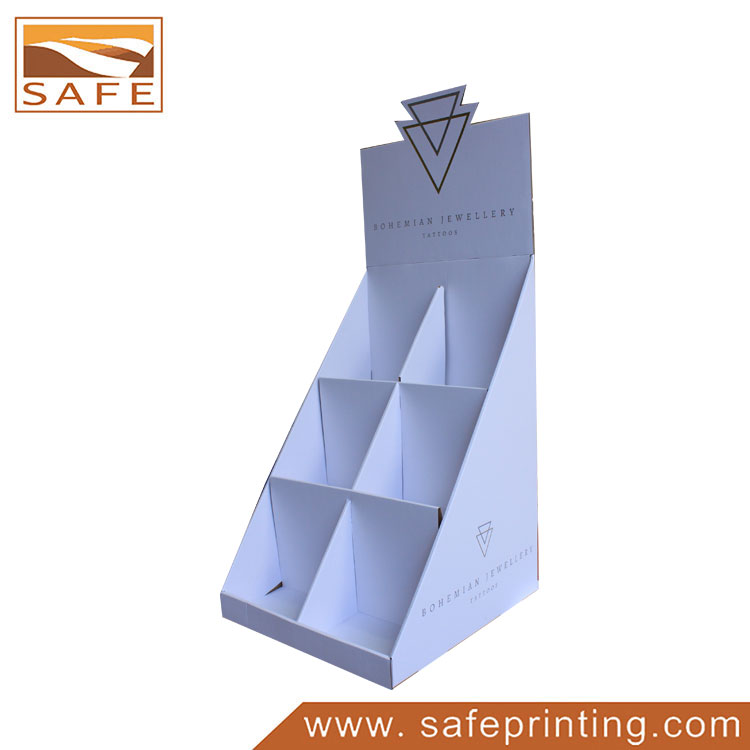 Safe Printing Customized Cardboard Counter Display for Greeting Cards