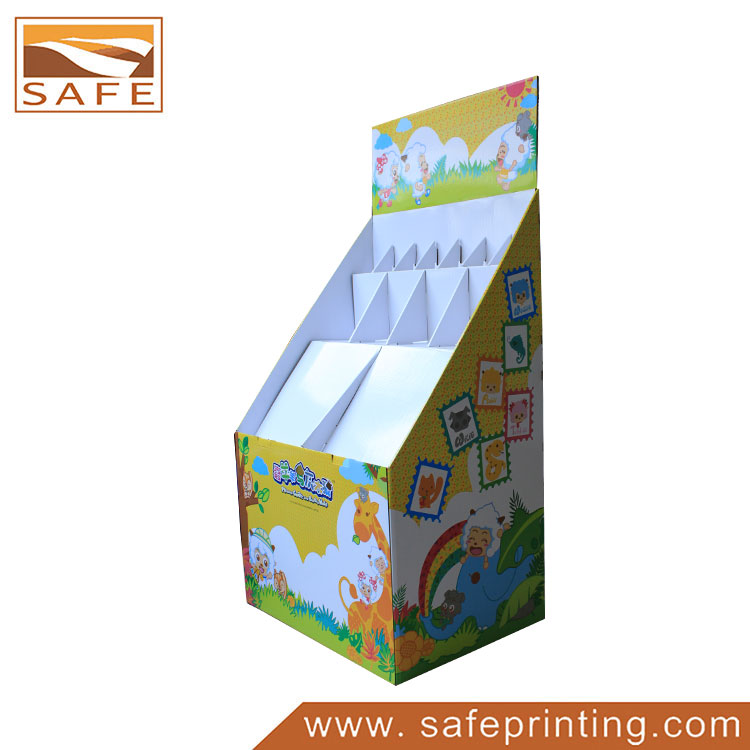 Shenzhen Printing Factory Wholesale Cardboard Floor Display Stand