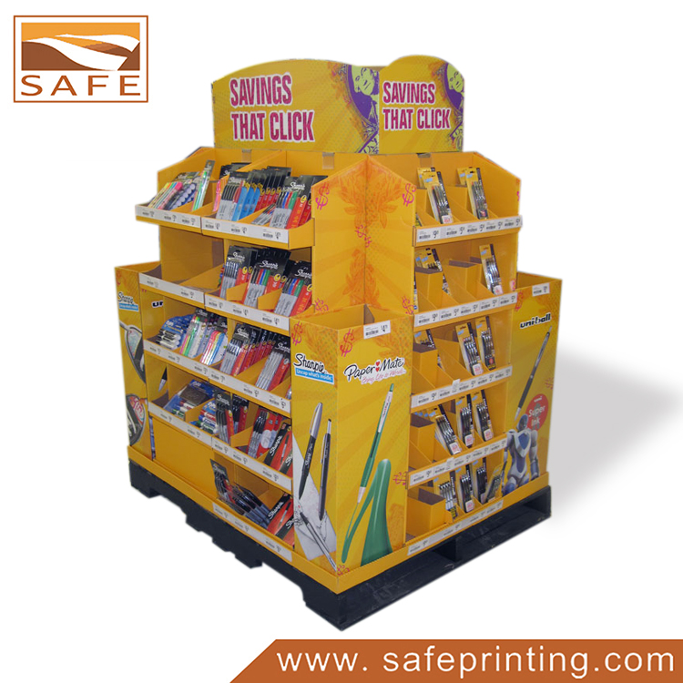 Cardboard pallet displays pallet pack displays for retail for Stand carton