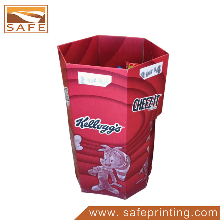 Supermarket Snack Food Cardboard Dump Bin Display